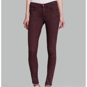 Rag and Bone Skinny Jeans in Distressed Wine 25